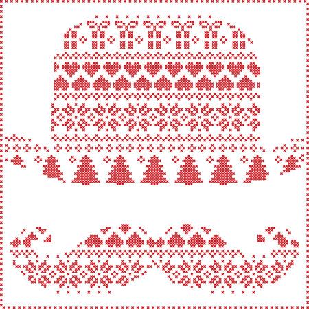 Scandinavian Nordic Winter Nähen Stricken Weihnachtsmuster In ...