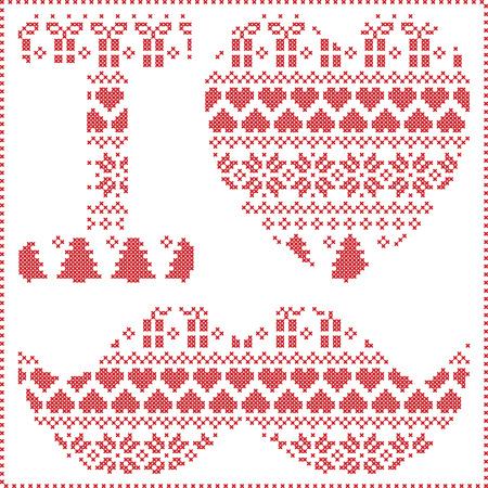 Ich Liebe Hipster Muster In Den Skandinavischen Nordic Winter Nähen ...