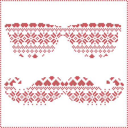 Hipster-Muster In Den Skandinavischen Nordic Winter Nähen Stricken ...