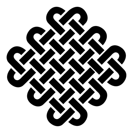 celtic background: Celtic style square on eternity knot patterns in black on white background  inspired by Irish St Patricks Day, and Irish and Scottish carving art
