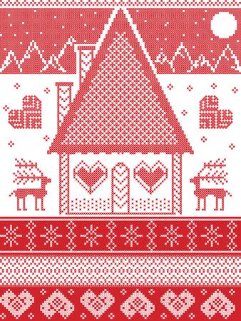 Estilo Nórdico E Inspirado En El Patrón De Navidad Escandinavo Y ...