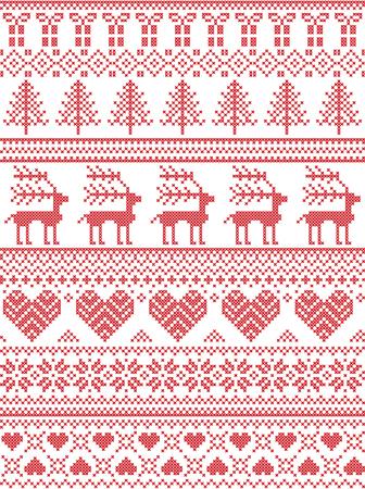 Skandinavische, Nordische Stil Winter-Nähen Weihnachten Muster ...