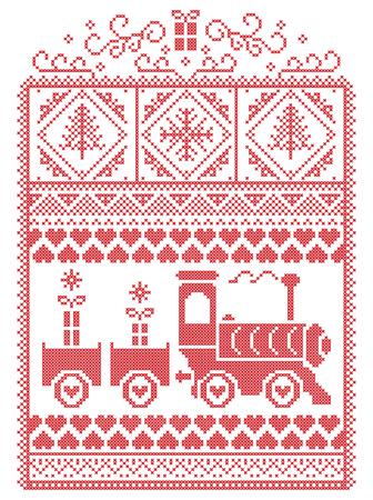 Weihnachten Skandinavisch, Nordischen Stil Winter Nähen, Muster Mit ...
