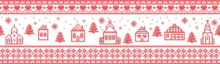 Sweater,border,knitwear,northern,card,snowfall,background,knit,tree,white,winter,village,church,town hall,christmas background,christmas decoration,christmas pattern,classic,craft,cross stitch,decoration,decorative,embroidery,festive,festive season,holiday,illustration,Nordic,Norwegian,ornament,pattern, red,cottage,vector,retro,Scandinavian,snow,seasonal,snowflake,star,stitch,texture,traditional,vintag,,winter background,christmas ornaments,ornaments vector,forest,house