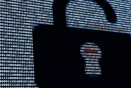 Cyber ??Protection Lock en wachtwoord Stockfoto - 42172820