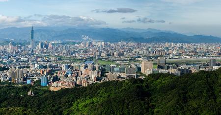 Panoramic view of Taipei City Editorial
