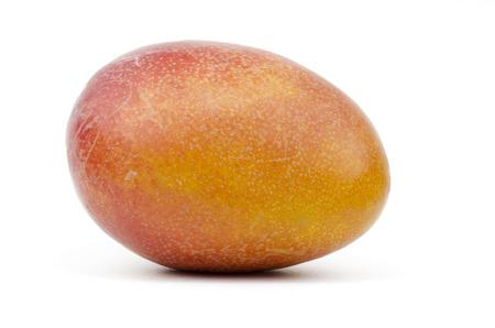 One ripe mango in white background
