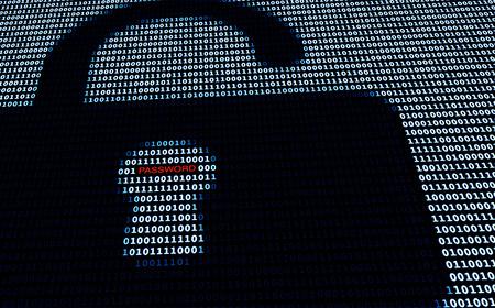 사이버 보안 잠금 및 암호