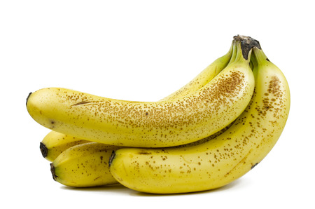 Bunch of bananas in white background Stock Photo