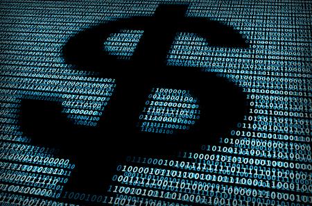 signo pesos: Signo de d�lar digital