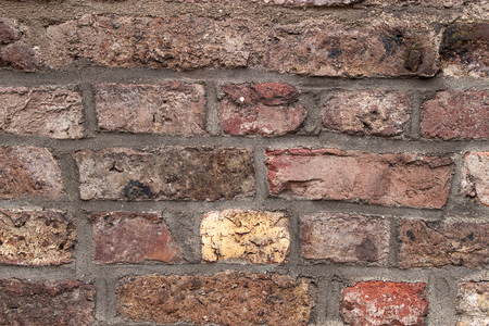 Old red brick wall texture grunge background Stock Photo