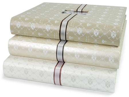albums: The pile of beautiful photo albums on white isolated backround