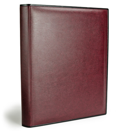 album cover: Red leather photo album cover isolated white background Stock Photo