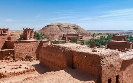 casbah: View of ksar Ait Benhaddou, Ait Ben Haddou Kasbah, Ouarzazate, Morocco