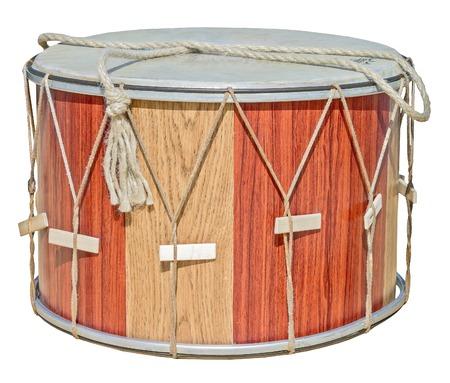bongos: drum leather with sticks isolated on white background