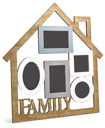 フォト フレームの家は、5 つのフレームと本文の家族で構成されます。 写真素材