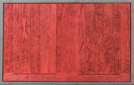 Red wooden background Stock Photo