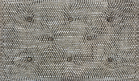 Decorative textile background with coach-type screed capitone chesterfield texture.