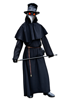 Plague doctor costume isolated 写真素材