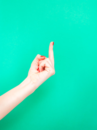 The Fuck You Middle Finger Hand Sign. Female hands showing middle fingers gesturing ScrewGive the middle finger when you want to say you with your hands Reklamní fotografie