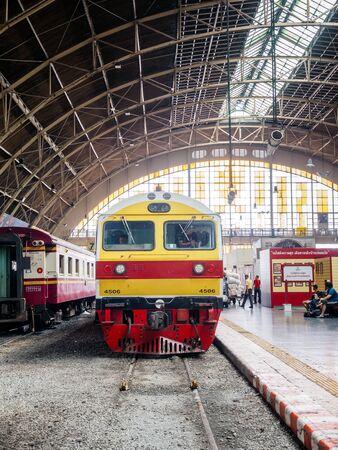 Bangkok, Thailand - May 25, 2019: Old Bangkok Railway Station unofficially known as Hua Lamphong station. The main railway station in Bangkok, Thailand the center of the city in the Pathum Wan District.