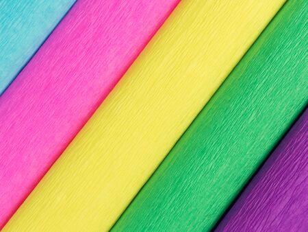 background color crepe paper rolls. Stockfoto