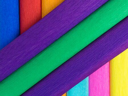 background color crepe paper rolls