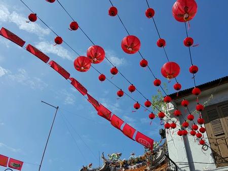 The red lantern street decoration Stock Photo