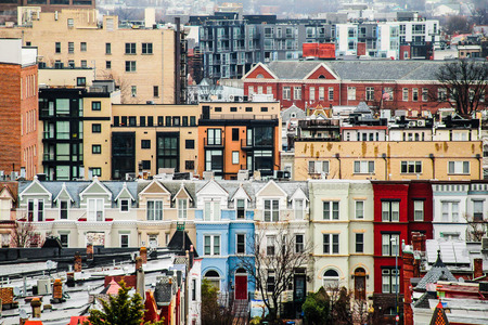 rowhouses: Colorful rowhouses