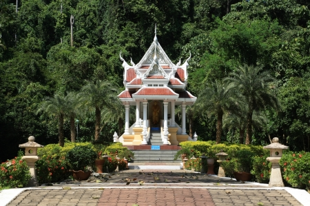 Thai temple among forest