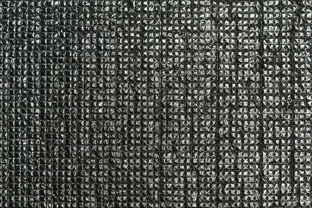 Shiny square silver pattern Stock Photo