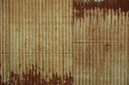 Very rusty corrugated iron Stock Photo