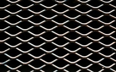 Abstract of dirty metal grid Stock Photo