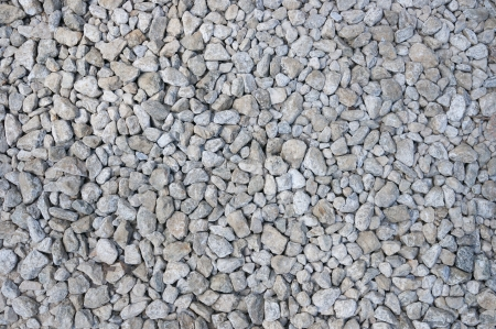 Texture of small grey gravel
