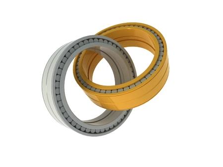 bearings: 3d bearings Stock Photo