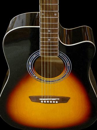 Steel String Acoustic Guitar 写真素材