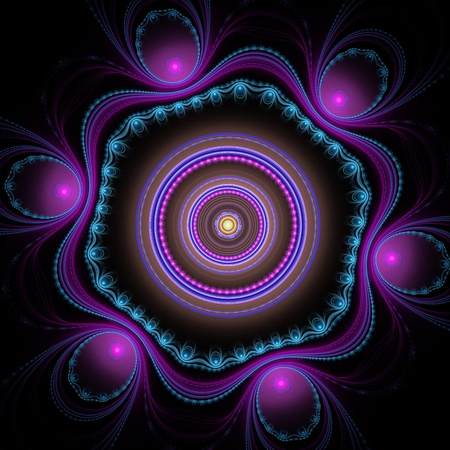 Purple julian fractal Stock Photo - 9518961