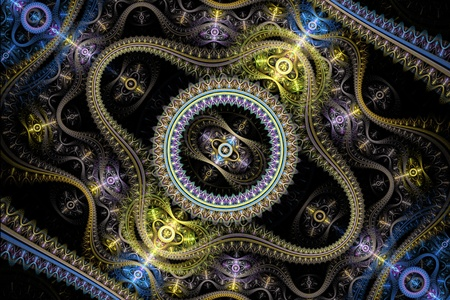 julian: Blue and Purple Grand Julian Fractal