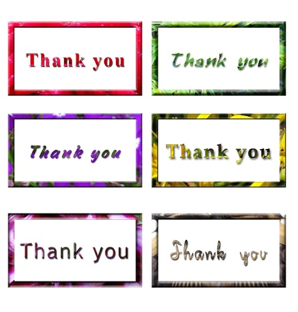 acknowledgment: Thank You Card Note Stock Photo