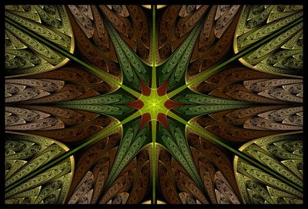 elliptic: Spring Fractal Star Stock Photo