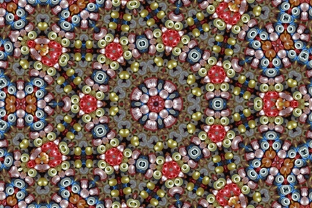seed beads: Colourful Mandala Stock Photo