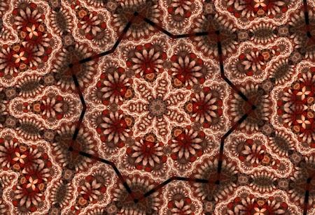 Red Fractal Mandala photo