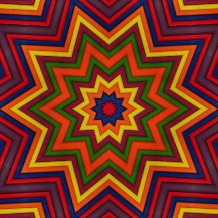 Colorful Mandala Star Stock Photo - 12509029