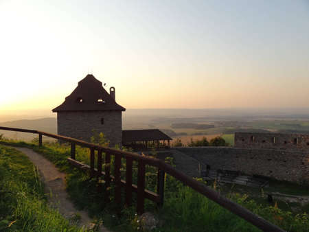 stary: Stary Jicin Castle at Dusk, Czech Republic