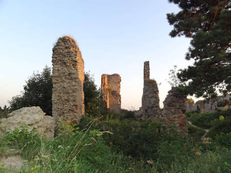 stary: Ruins of Stary Jicin Castle Walls, Czech Republic                                Editorial