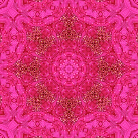 kaleidoscopic: Pink Mandala Stock Photo
