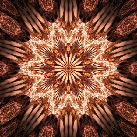 Orange Fractal Flower photo