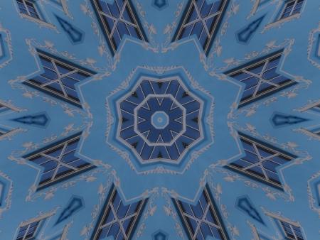 Blue Mandala Star photo