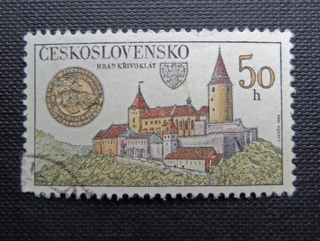 czechoslovakia: CZECHOSLOVAKIA - CIRCA 1982: A stamp printed in former CZECHOSLOVAKIA shows Krivoklat Castle, circa 1982                                Editorial