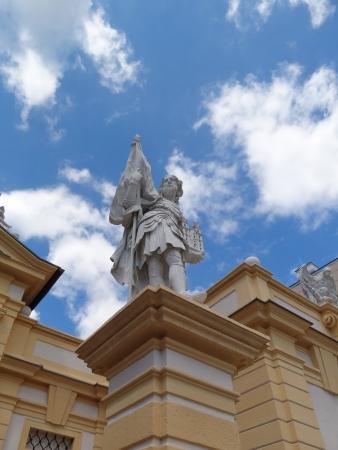leopold: Melk, Austria - June 14 2012: Statue of Leopold II, Margrave of Austria in Melk Abbey